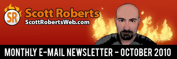 ScottRobertsWeb.com October E-Mail Newsletter