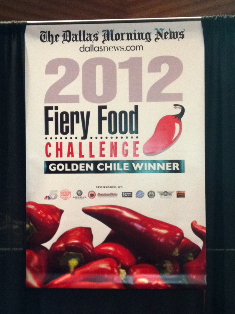 Poster for the 2012 Fiery Food Challenge.  Photo by Ken Alexander.