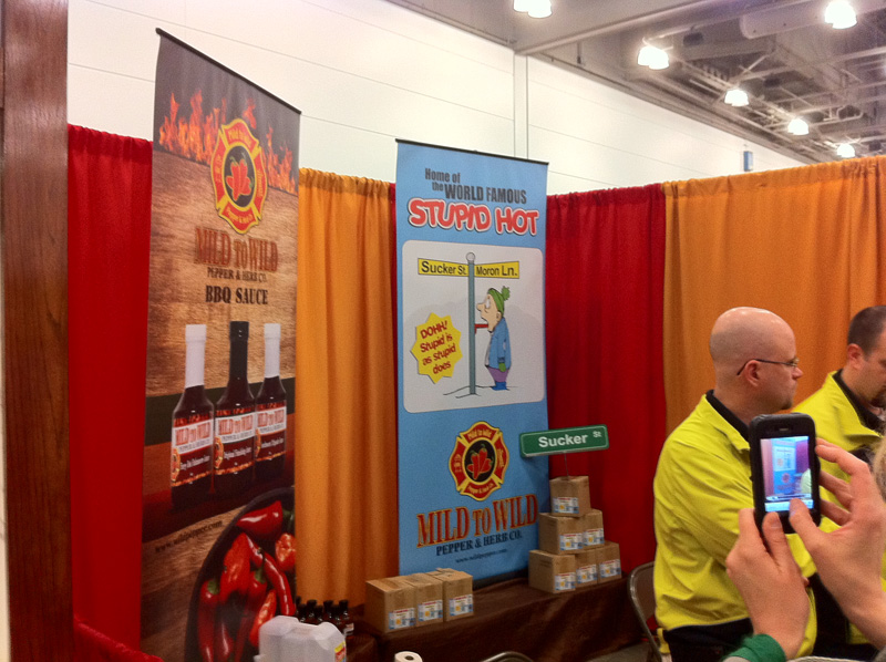 The Mild to Wild Pepper and Herb Co. booth.