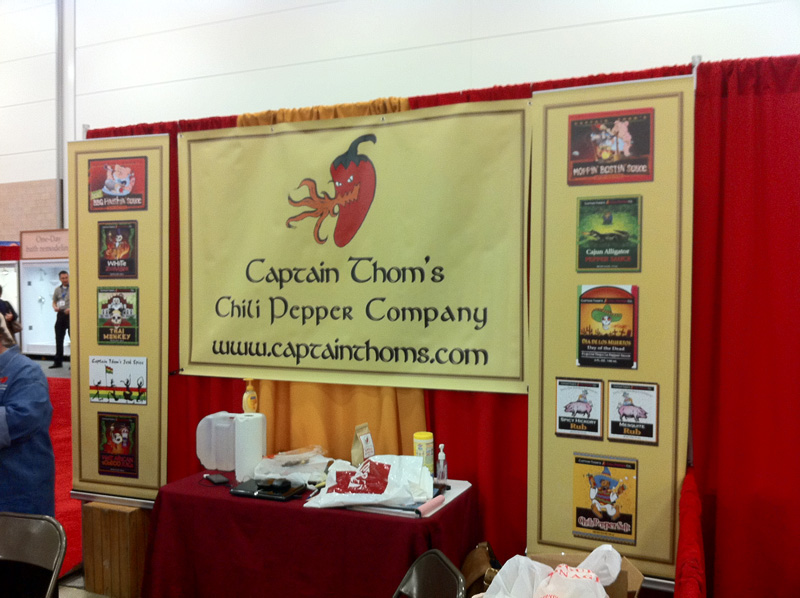 Captain Thom\'s Chile Pepper Co. booth.