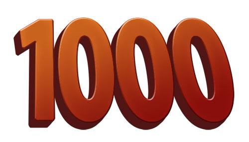 1000 blog posts