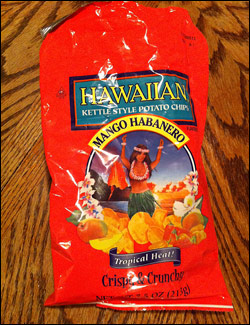Hawaiian Brand Mango Habanero Kettle Style Potato Chips