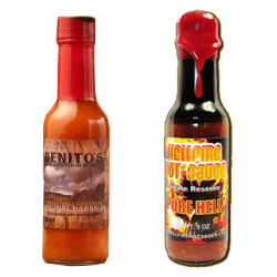 Benito's Original Naranja Hot Sauce VS. Hellfire Pure Hell Hot Sauce