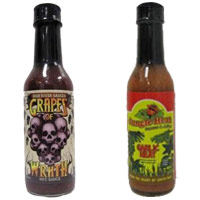 Ultimate Hot Sauce Showdown - First Round - High River Sauces Grapes Of Wrath VS. Jungle Heat Garlic Heat