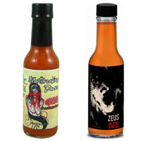 Ultimate Hot Sauce Showdown - First Round - UHSS - Ladybird & Friends Zeus VS. Heartbreaking Dawns 1841 Ghost Pepper Sauce