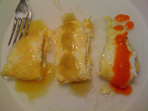 Benito's Hot Sauces on Eggs