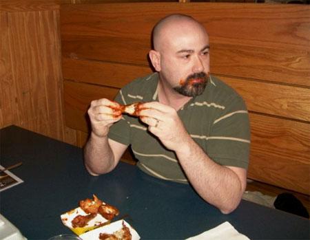 Scott Doing the Blazin' Challenge at Buffalo Wild Wings