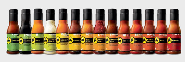 Buffalo Wild Wings Sauce Scale