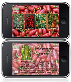 Chile Pepper iPhone App - ChilliFarm