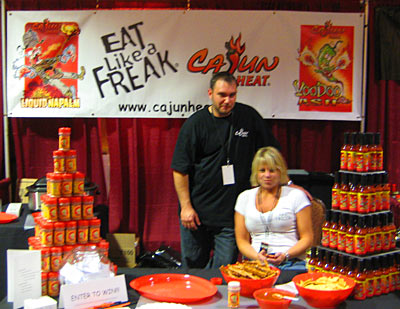 Clement Bourg of Cajun Heat with girlfriend