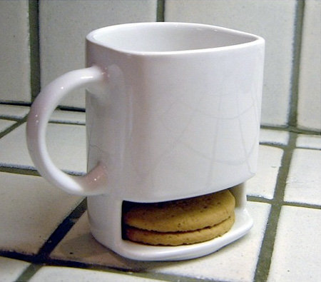 Coffee Mug With Built-In Cookie Compartment