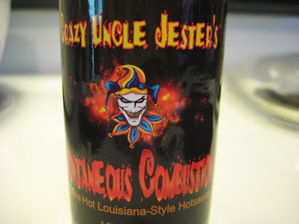 Crazy Uncle Jester's Spontaneous Combustion Hot Sauce