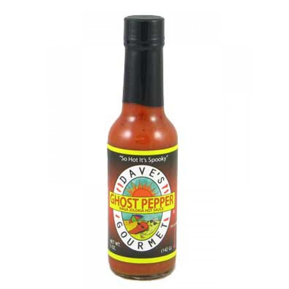 Dave's Ghost Pepper Naga Jolokia Hot Sauce Scoville Heat Units