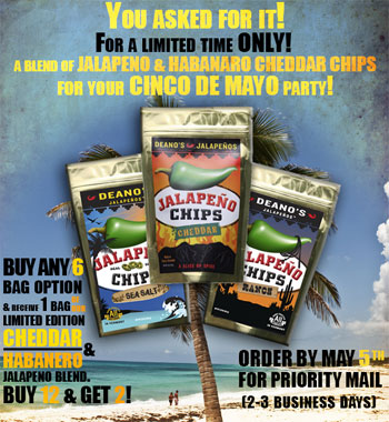 Deano's Jalapenos AND Habaneros? Take Advantage of This Limited Run Mix Offer Through May 5th