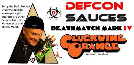 DEFCON Deathmatch Mark IV Cluckwing Orange Wing Sauce
