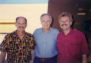 Dave DeWitt, Alan Alda, and Dr. Paul Bosland