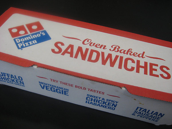Domino's Sweet & Spicy Chicken Habanero Oven Baked Sandwich