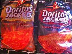 Review Bites - Spicy Snack Mini Reviews - Planters Five Alarm Chili Peanuts and Doritos Jacked Chips