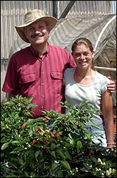 Dr. Paul Bosland and Danise Coon of the Chile Pepper Institute