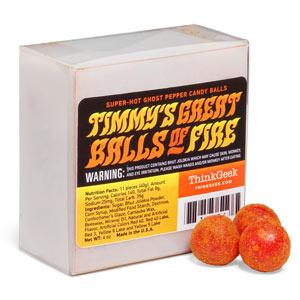 Timmy's Great Balls of Fire - Ghost Pepper Super Hot Candy Balls