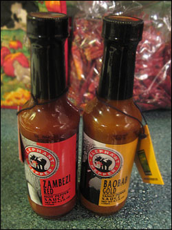 Elephant Pepper Hot Chile Sauces - Baobab Gold Tangy Pepper Sauce and Zambezi Red Hot Pepper Sauce