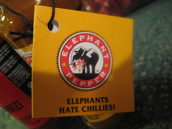 Elephant Pepper Hot Pepper Sauce Labels