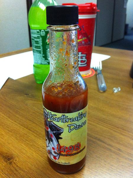 Heartbreaking Dawns 1498 Trinidad Scorpion Hot Sauce