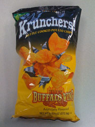 Krunchers Hot Buffalo Wing Kettle Cooked Potato Chips