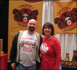 Myself and Jennifer Reynolds of Sauce Goddess