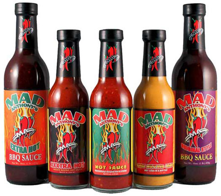 The Mad Anthony sauce lineup