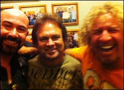 Myself with Michael Anthony and Sammy Hagar