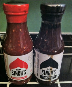 Mr. Singh's Hot Punjabi Chilli Sauce and Mr. Singh's Black Label Chilli Sauce