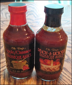 Ole Ray's Apple/Cinnamon and Peach-A-Licious Barbeque Sauces
