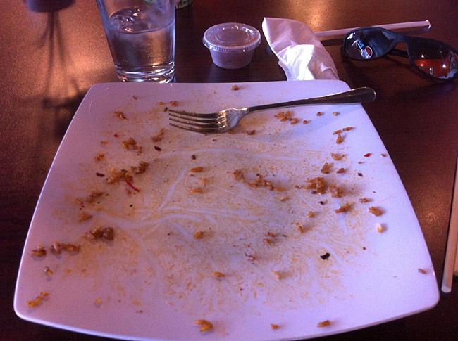 A clean plate!
