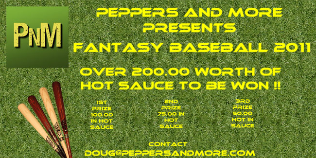 Peppers and More Fantasy Baseball 2011