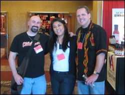 Scott with Diane and Mike Greening of Ring of Fire Hot Sauces