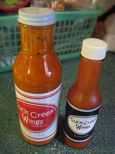 Suck Creek Wings Sauces - Original and WFR