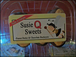 Susie Q Sweets Peanut Butter and Chocolate Buckeyes