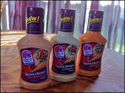 Taco Bell Home Originals Bold and Creamy Sauces - Chipotle, Spicy Ranchero and Jalapeno