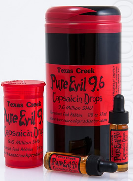 Texas Creek Pure Evil 9.6mil Capsaicin Drops Scoville Heat Units