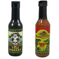 Ultimate Hot Sauce Showdown - First Round - Captain Thom's Thai Monkey VS. Jungle Heat Caribbean Sauce