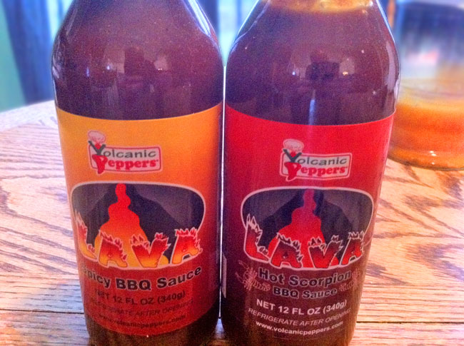 Volcanic Peppers Lava Spicy BBQ Sauce and Lava Hot Scorpion BBQ Sauce