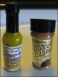 Mossy Bayou Foods Who Dat? Hot Sauce and Bayou Blend Seasoning