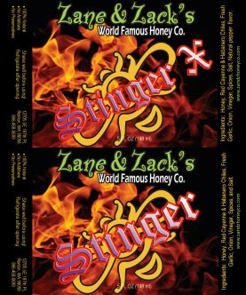 Zane and Zack's Stinger and Stinger X Hot Sauces