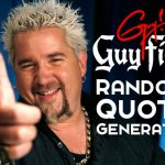 Guy Fieri Random Quote Generator