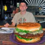 Man Eats 15 Lb. Burger at Denny's Beer Barrel Pub