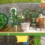 Green Chile Ice Cream Matches the Tractors at The Cliff/Gila Grant County Fair