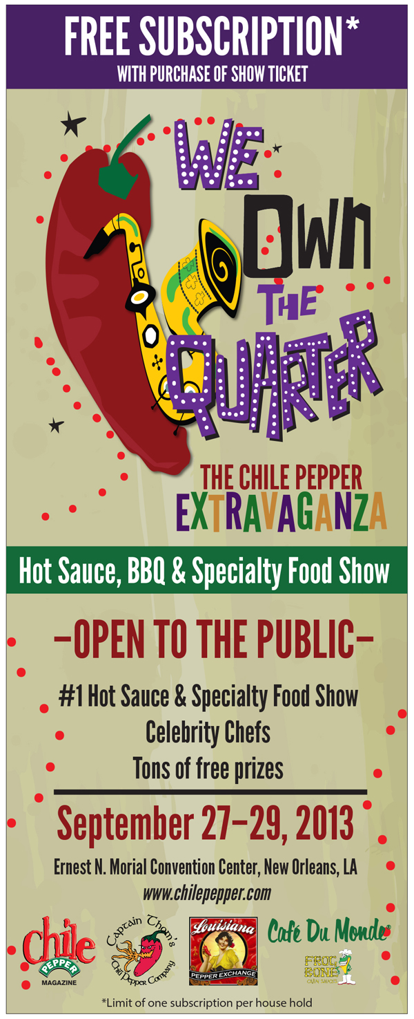 Chile Pepper Extravaganza - New Orleans Hot Sauce Show