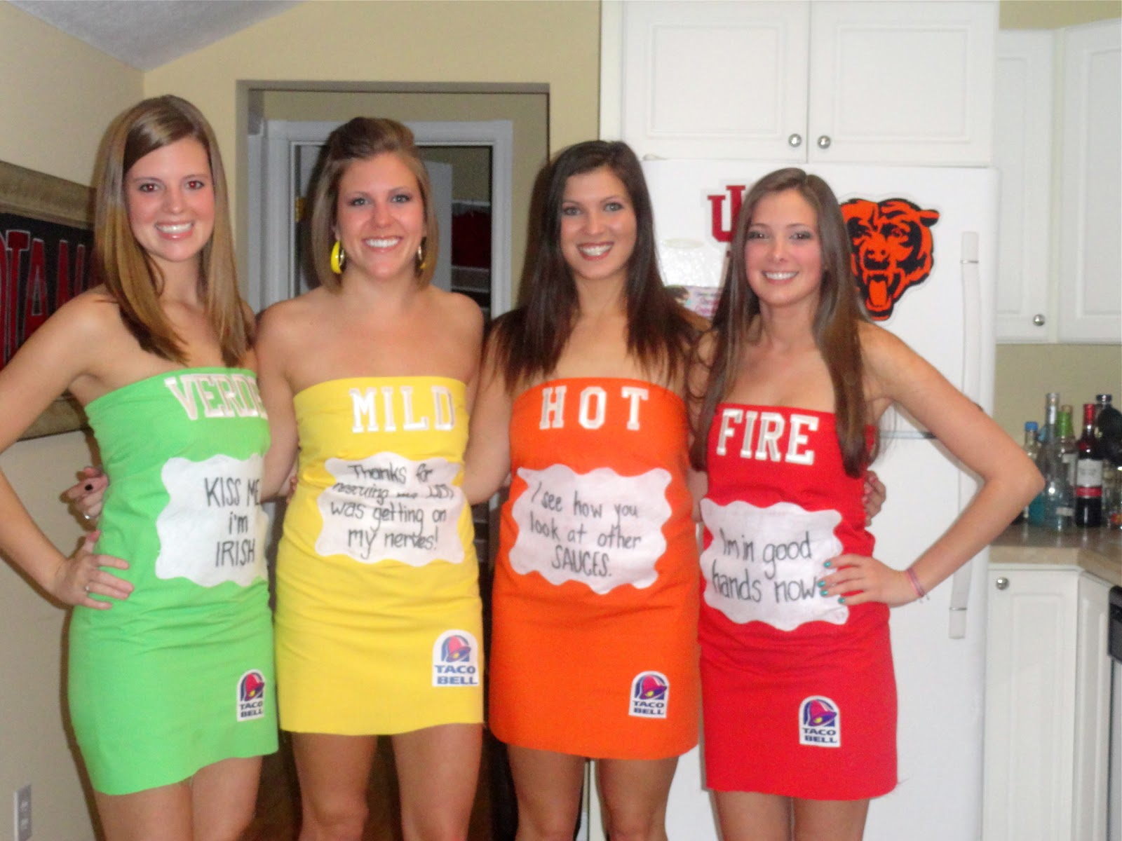 hot girls taco bell hot sauce halloween
