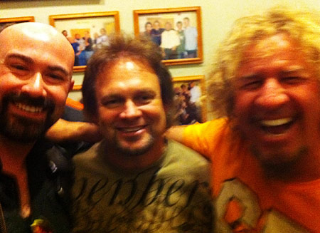 Hanging with Michael Anthony and Sammy Hagar - Interview